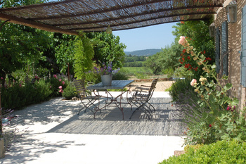 Terrace luxury holidayhome for rent in Cotignac